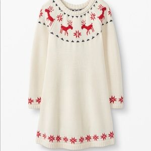 Hanna Andersson Dear Deer Sweater Dress Size 4